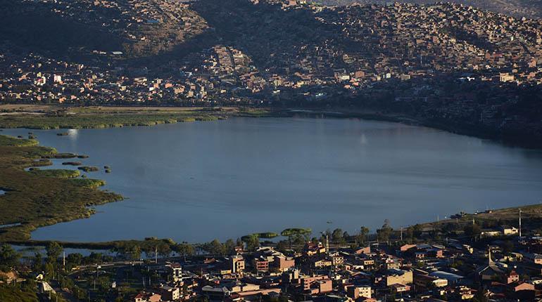 Laguna de Alalay. Los Tiempos.