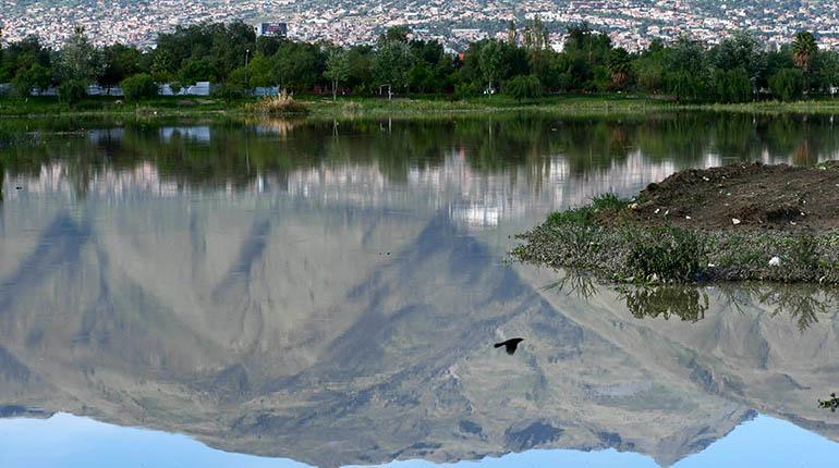 Coña Coña a su nivel máximo de agua